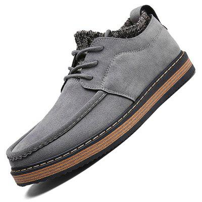 Male Casual Soft Anti Slip Knitted Lace Up Leather ShoesCasual Shoes<br>Male Casual Soft Anti Slip Knitted Lace Up Leather Shoes<br><br>Closure Type: Lace-Up<br>Contents: 1 x Pair of Shoes<br>Decoration: Weave<br>Function: Slip Resistant<br>Materials: Suede, Rubber<br>Occasion: Tea Party, Party, Office, Casual, Shopping, Daily, Holiday<br>Outsole Material: Rubber<br>Package Size ( L x W x H ): 33.00 x 24.00 x 13.00 cm / 12.99 x 9.45 x 5.12 inches<br>Package Weights: 0.92kg<br>Pattern Type: Solid<br>Seasons: Autumn,Spring<br>Style: Modern, Leisure, Fashion, Comfortable, Casual<br>Toe Shape: Round Toe<br>Type: Casual Leather Shoes<br>Upper Material: Suede