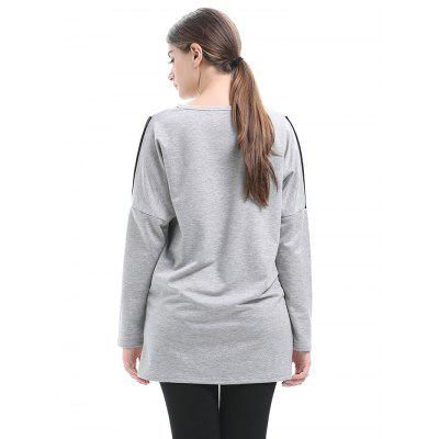 Loose Splicing Batwing Long Sleeve T-shirt for WomenTees<br>Loose Splicing Batwing Long Sleeve T-shirt for Women<br><br>Clothing Length: Long<br>Collar: Round Neck<br>Material: Cotton, Polyester<br>Package Contents: 1 x T-shirt<br>Package size: 35.00 x 28.00 x 2.00 cm / 13.78 x 11.02 x 0.79 inches<br>Package weight: 0.4300 kg<br>Product weight: 0.2000 kg<br>Sleeve Length: Long Sleeves<br>Sleeve Type: Batwing Sleeve<br>Style: Fashion, Casual