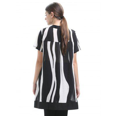 Women Loose Large Size Short Sleeve BlouseBlouses<br>Women Loose Large Size Short Sleeve Blouse<br><br>Collar: Stand Collar<br>Material: 100% Polyester<br>Package Content: 1 x Blouse<br>Package size (L x W x H): 35.00 x 28.00 x 2.00 cm / 13.78 x 11.02 x 0.79 inches<br>Package weight: 0.2800 kg<br>Product weight: 0.2400 kg<br>Season: Summer<br>Shirt Length: Long<br>Sleeve Length: Short Sleeves<br>Style: Casual