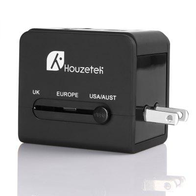 Houzetek BST - 613 Travel Power AdapterChargers &amp; Cables<br>Houzetek BST - 613 Travel Power Adapter<br><br>Brand: Houzetek<br>Model: BST - 613<br>Package Contents: 1 x Adapter, 1 x English User Manual<br>Package size (L x W x H): 6.00 x 5.50 x 6.50 cm / 2.36 x 2.17 x 2.56 inches<br>Package weight: 0.1130 kg<br>Product size (L x W x H): 6.00 x 4.50 x 5.60 cm / 2.36 x 1.77 x 2.2 inches<br>Product weight: 0.0960 kg