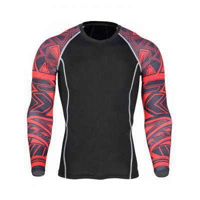 Sports Quick Dry Compression ClothesWeight Lifting Clothes<br>Sports Quick Dry Compression Clothes<br><br>Features: Quick Dry<br>Gender: Men<br>Material: Polyester<br>Package Content: 1 x T Shirt, 1 x Pair of Leggings<br>Package size: 36.00 x 24.00 x 1.00 cm / 14.17 x 9.45 x 0.39 inches<br>Package weight: 0.3800 kg<br>Product weight: 0.3400 kg<br>Type: Long Sleeves