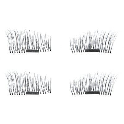4PCS 3D Free Glue Magnetic False Eyelash