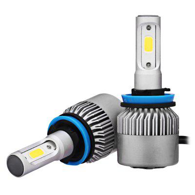 2pcs S2 H11 LED COB White LED Car Headlight BulbsCar Lights<br>2pcs S2 H11 LED COB White LED Car Headlight Bulbs<br><br>Adaptable automobile mode: Universal<br>Connector: H11<br>Lumens: 7200LM / set ( 3600LM / bulb )<br>Package Contents: 2 x LED Headlight<br>Package size (L x W x H): 18.00 x 12.00 x 5.00 cm / 7.09 x 4.72 x 1.97 inches<br>Package weight: 0.3000 kg<br>Product size (L x W x H): 8.00 x 3.30 x 1.30 cm / 3.15 x 1.3 x 0.51 inches<br>Product weight: 0.1270 kg