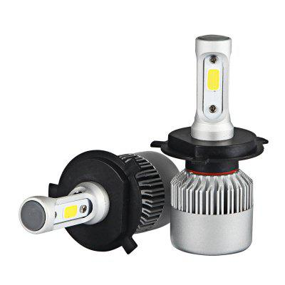 2pcs S2 H4 LED COB White LED Car Headlight BulbsCar Lights<br>2pcs S2 H4 LED COB White LED Car Headlight Bulbs<br><br>Adaptable automobile mode: Universal<br>Connector: H4<br>Lumens: 7200LM / set ( 3600LM / bulb )<br>Package Contents: 2 x LED Headlight<br>Package size (L x W x H): 18.00 x 12.00 x 5.00 cm / 7.09 x 4.72 x 1.97 inches<br>Package weight: 0.3000 kg<br>Product size (L x W x H): 9.50 x 3.30 x 1.30 cm / 3.74 x 1.3 x 0.51 inches<br>Product weight: 0.1270 kg