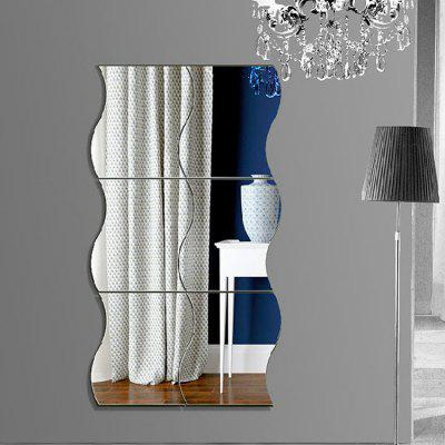 Creative Stereoscopic Wavy Mirror Removable PMMA Wall Sticker Home Decoration