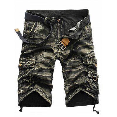 Buy ARMY GREEN CAMOUFLAGE 34 Pockets Plus Size Leisure Shorts for Men for $23.57 in GearBest store