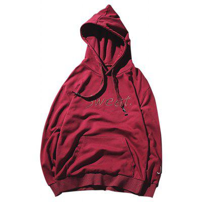 Buy WINE RED Loose Letter Printed Hoodie for Men for $22.73 in GearBest store