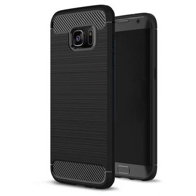 Wkae Case Solid Color Carbon Fiber Texture TPU Soft Protective Case for Wkae Galaxy S7 Edge