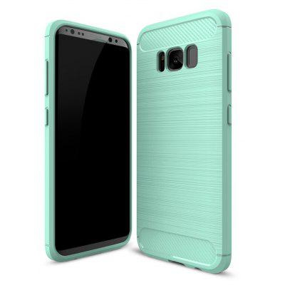 Wkae Case Solid Color Carbon Fiber Texture TPU Soft Protective Case for Samsung Galaxy S8