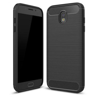 Wkae  Case Solid Color Carbon Fiber Texture TPU Soft Protective Case for Samsung Galaxy J530 2017