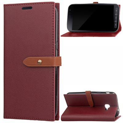 Wkae Faux Leather Case Business Style Wallet Stand Case Cover for Samsung Galaxy Xcover 4