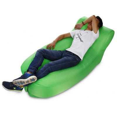 Portable 150kg Loading Inflatable Sofa Bed with Back Pillow