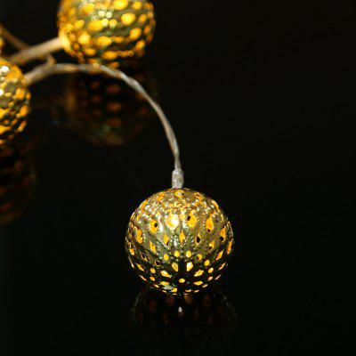 KWB 2M Battery Powered 20 LED Metal Ball Fairy String LightLED Strips<br>KWB 2M Battery Powered 20 LED Metal Ball Fairy String Light<br><br>Beam Angle: 360 Degree<br>Brand: KWB<br>Bulb Included: Yes<br>Color Temperature or Wavelength: 2800 - 3300K<br>Features: Festival Lighting<br>Initial Lumens ( lm ): 20Lm<br>LED Quantity: 20<br>Length ( m ): 2<br>Light color: Warm White<br>Light Source: LED<br>Light Source Color: Warm White<br>Package Content: 1 x String Light<br>Package size (L x W x H): 24.00 x 21.00 x 14.00 cm / 9.45 x 8.27 x 5.51 inches<br>Package weight: 0.3400 kg<br>Power Supply: 3 x 1.5V AA battery<br>Product size (L x W x H): 200.00 x 4.00 x 4.00 cm / 78.74 x 1.57 x 1.57 inches<br>Product weight: 0.3000 kg<br>Type: String Lights<br>Voltage: DC 4.5V<br>Wattage (W): 3<br>Working Mode: Battery Powered<br>Working Temperature: Normal Temperature