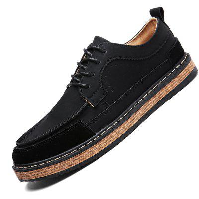 Male Casual Breathable Soft Stitching Flat Leather ShoesCasual Shoes<br>Male Casual Breathable Soft Stitching Flat Leather Shoes<br><br>Closure Type: Lace-Up<br>Contents: 1 x Pair of Shoes<br>Function: Slip Resistant<br>Materials: Rubber, Leather<br>Occasion: Tea Party, Shopping, Office, Holiday, Daily, Casual, Party<br>Outsole Material: Rubber<br>Package Size ( L x W x H ): 33.00 x 24.00 x 13.00 cm / 12.99 x 9.45 x 5.12 inches<br>Package Weights: 0.92kg<br>Pattern Type: Solid<br>Seasons: Autumn,Spring<br>Style: Modern, Leisure, Fashion, Comfortable, Casual, Business<br>Toe Shape: Round Toe<br>Type: Casual Leather Shoes<br>Upper Material: Leather