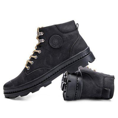 Male Leisure Soft Anti Slip High Top Leather Martin BootsMens Boots<br>Male Leisure Soft Anti Slip High Top Leather Martin Boots<br><br>Closure Type: Lace-Up<br>Contents: 1 x Pair of Shoes<br>Function: Slip Resistant<br>Materials: Rubber, Leather<br>Occasion: Tea Party, Shopping, Party, Office, Holiday, Daily, Casual, Outdoor Clothing<br>Outsole Material: Rubber<br>Package Size ( L x W x H ): 33.00 x 24.00 x 13.00 cm / 12.99 x 9.45 x 5.12 inches<br>Package Weights: 1.02kg<br>Pattern Type: Solid, Letter<br>Seasons: Autumn,Spring<br>Style: Modern, Leisure, Fashion, Comfortable, Casual<br>Toe Shape: Round Toe<br>Type: Boots<br>Upper Material: Leather