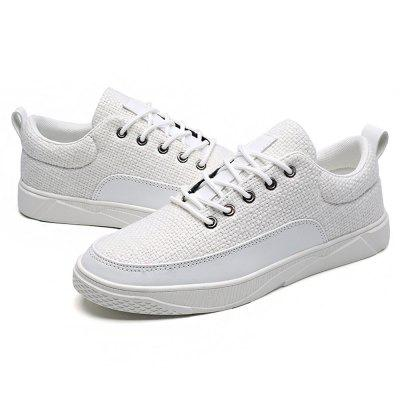 Male Stylish Breathable Split Joint Lace Up Leisure ShoesCasual Shoes<br>Male Stylish Breathable Split Joint Lace Up Leisure Shoes<br><br>Closure Type: Lace-Up<br>Contents: 1 x Pair of Shoes<br>Decoration: Split Joint<br>Function: Slip Resistant<br>Materials: Rubber, Linen<br>Occasion: Tea Party, Party, Office, Holiday, Daily, Casual, Shopping<br>Outsole Material: Rubber<br>Package Size ( L x W x H ): 33.00 x 24.00 x 13.00 cm / 12.99 x 9.45 x 5.12 inches<br>Package Weights: 0.92kg<br>Seasons: Autumn,Spring<br>Style: Modern, Leisure, Fashion, Comfortable, Casual<br>Toe Shape: Round Toe<br>Type: Casual Shoes<br>Upper Material: Linen