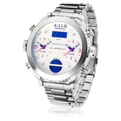 6.11 8159 Fashionable Dual Time Zone Male Watch