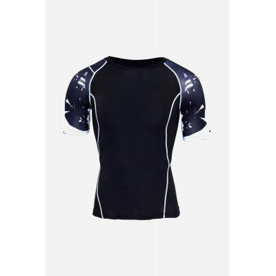Men Fashion Sports Quick Dry Compression ClothesWeight Lifting Clothes<br>Men Fashion Sports Quick Dry Compression Clothes<br><br>Gender: Men<br>Material: Polyester<br>Package Content: 1 x T Shirt, 1 x Pair of Leggings<br>Package size: 36.00 x 24.00 x 3.00 cm / 14.17 x 9.45 x 1.18 inches<br>Package weight: 0.3600 kg<br>Product weight: 0.3200 kg<br>Type: Short Sleeves