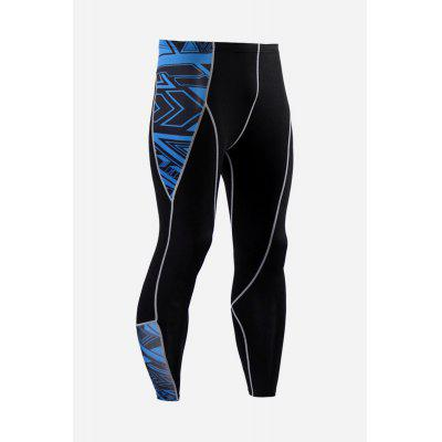 Male Stylish Quick Dry Sports Compression Pants for Hiking Riding and Climbing