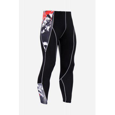 Male Outdoor Sports Compression Pants for Hiking Riding and Climbing