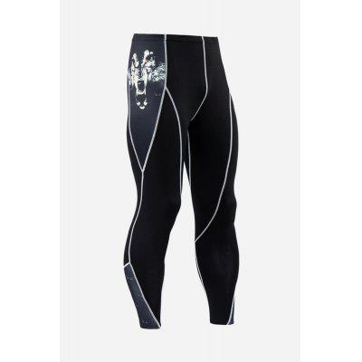 Male Casual Outdoor Sports Compression Pants for Hiking Riding and Climbing