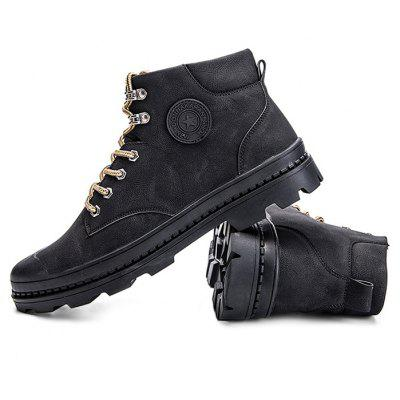 Male Leisure Soft Anti Slip High Top Leather Martin BootsMens Boots<br>Male Leisure Soft Anti Slip High Top Leather Martin Boots<br><br>Closure Type: Lace-Up<br>Contents: 1 x Pair of Shoes<br>Function: Slip Resistant<br>Materials: Rubber, Leather<br>Occasion: Tea Party, Shopping, Outdoor Clothing, Office, Holiday, Party, Casual, Daily<br>Outsole Material: Rubber<br>Package Size ( L x W x H ): 33.00 x 24.00 x 13.00 cm / 12.99 x 9.45 x 5.12 inches<br>Package weight: 1.0200 kg<br>Pattern Type: Solid, Letter<br>Product weight: 0.8000 kg<br>Seasons: Autumn,Spring<br>Style: Modern, Leisure, Fashion, Comfortable, Casual<br>Toe Shape: Round Toe<br>Type: Boots<br>Upper Material: Leather