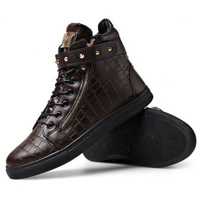 Male Stylish Soft Zipper Buckle Strap Lace Up Leisure BootsCasual Shoes<br>Male Stylish Soft Zipper Buckle Strap Lace Up Leisure Boots<br><br>Closure Type: Buckle Strap, Lace-Up, Zip<br>Contents: 1 x Pair of Shoes<br>Decoration: Zippers<br>Function: Slip Resistant<br>Materials: PU, Rubber<br>Occasion: Casual, Shopping, Tea Party, Party, Office, Holiday, Daily<br>Package Size ( L x W x H ): 33.00 x 24.00 x 13.00 cm / 12.99 x 9.45 x 5.12 inches<br>Pattern Type: Solid<br>Seasons: Autumn,Spring<br>Style: Modern, Leisure, Fashion, Comfortable, Casual<br>Type: Boots<br>Upper Material: PU