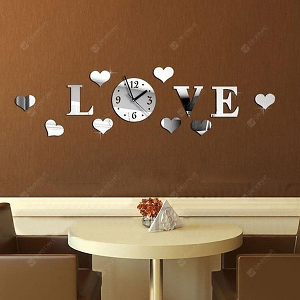 Love Mirror Removable Waterproof Wall Sticker