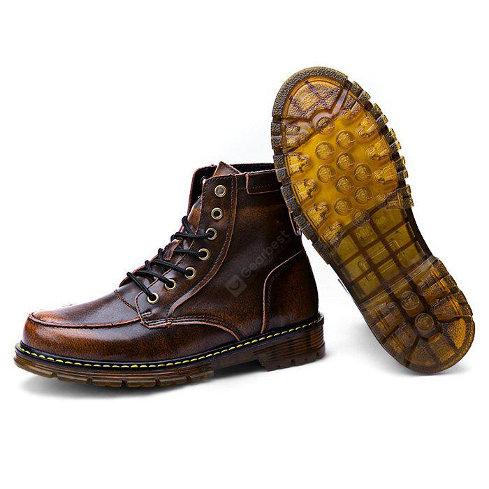 Male Casual Soft High Top Leather Martin Boots finishline best cheap price explore buy cheap best store to get outlet great deals Rtqtr