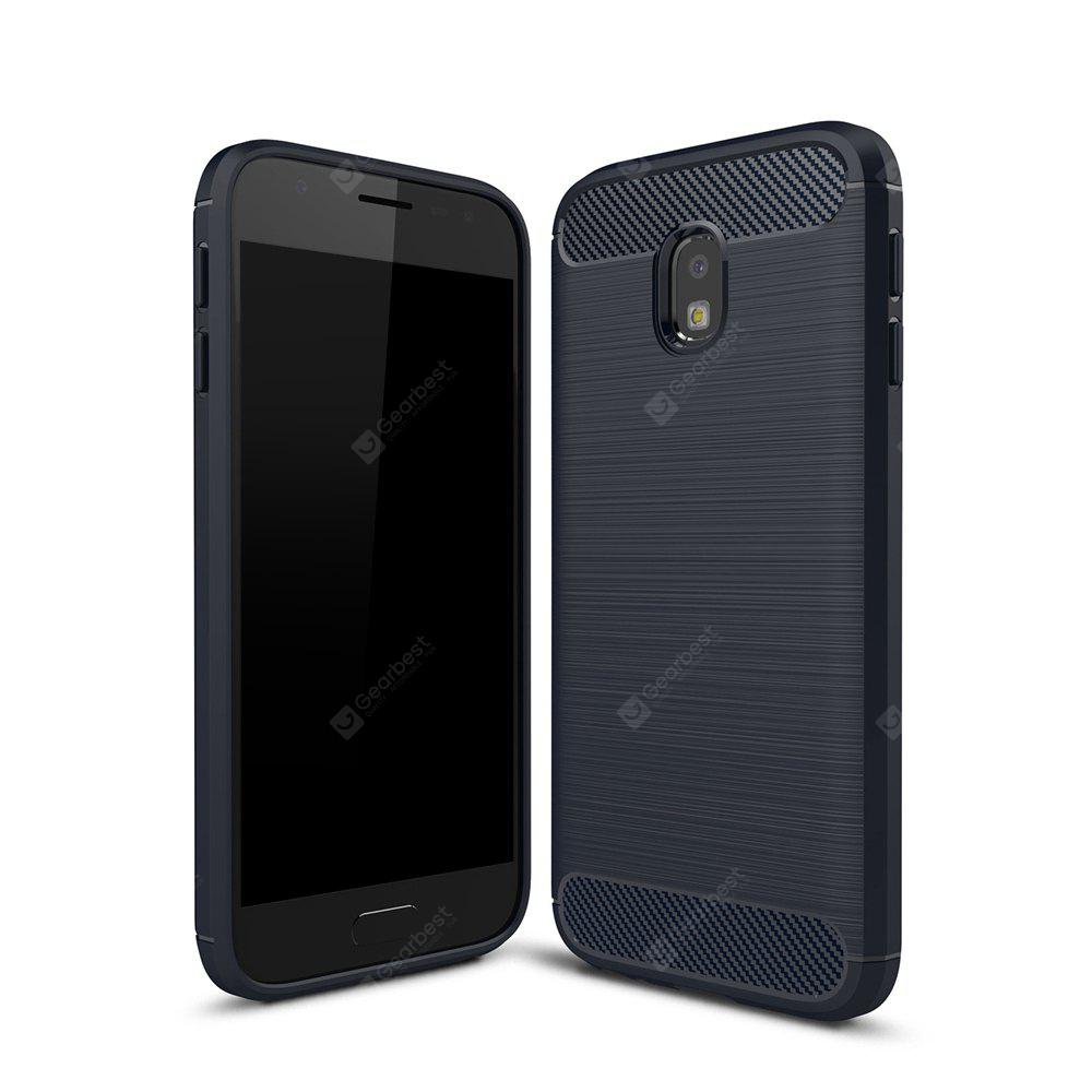 Wkae Case Solid Color Carbon Fiber Texture TPU Soft Protective Case for Samsung  Galaxy J330 2017