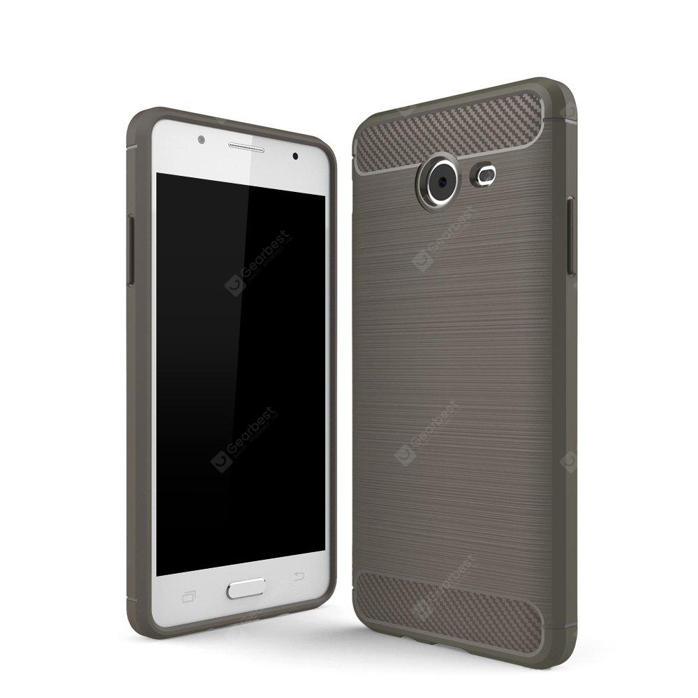 Wkae  Case Solid Color Carbon Fiber Texture TPU Soft Protective Case for Samsung Galaxy J5 2017
