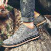 Male Breathable Casual Lace Up Retro Leather Shoes - GRAY