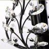 E14 3 Branches American Style Crystal Chandelier 220V - BLACK