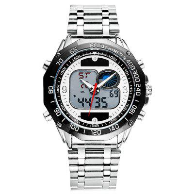 6.11 8149 Dual Movt Fashionable Male WatchMens Watches<br>6.11 8149 Dual Movt Fashionable Male Watch<br><br>Band material: Stainless Steel<br>Band size: 24 x 2cm<br>Brand: 6.11<br>Case material: Alloy<br>Clasp type: Butterfly clasp<br>Dial size: 4 x 4 x 1.2cm<br>Display type: Analog-Digital<br>Movement type: Quartz + digital watch<br>Package Contents: 1 x Watch<br>Package size (L x W x H): 26.00 x 6.00 x 3.20 cm / 10.24 x 2.36 x 1.26 inches<br>Package weight: 0.1900 kg<br>Product size (L x W x H): 24.00 x 4.00 x 1.20 cm / 9.45 x 1.57 x 0.47 inches<br>Product weight: 0.1500 kg<br>Shape of the dial: Round<br>Watch mirror: Acrylic<br>Watch style: Fashion<br>Watches categories: Men