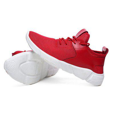Male Breathable Wearable Soft Light Outdoor SneakersAthletic Shoes<br>Male Breathable Wearable Soft Light Outdoor Sneakers<br><br>Closure Type: Lace-Up<br>Contents: 1 x Pair of Shoes<br>Function: Slip Resistant<br>Lining Material: Cotton Fabric<br>Materials: Mesh, Plastic, Cotton<br>Occasion: Sports, Shopping, Riding, Outdoor Clothing, Casual, Running, Daily, Holiday<br>Outsole Material: Plastic<br>Package Size ( L x W x H ): 25.00 x 18.00 x 11.00 cm / 9.84 x 7.09 x 4.33 inches<br>Package Weights: 0.42kg<br>Pattern Type: Solid<br>Seasons: Autumn,Spring<br>Style: Modern, Leisure, Fashion, Comfortable, Casual<br>Toe Shape: Round Toe<br>Type: Sports Shoes<br>Upper Material: Mesh