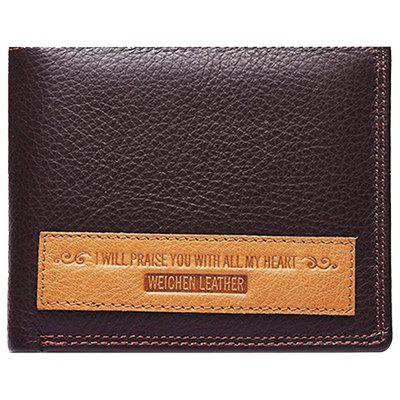 Buy BROWN Men Leisure Trifold Leather Wallet for $15.93 in GearBest store