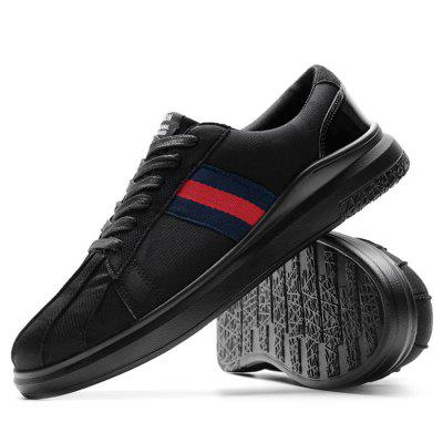 Male Stylish Soft Striped Pattern Lace Up Flat Leisure ShoesCasual Shoes<br>Male Stylish Soft Striped Pattern Lace Up Flat Leisure Shoes<br><br>Closure Type: Lace-Up<br>Contents: 1 x Pair of Shoes<br>Decoration: Stripe<br>Function: Slip Resistant<br>Materials: PU, Fabric<br>Occasion: Tea Party, Shopping, Party, Outdoor Clothing, Casual, Running, Daily, Holiday<br>Outsole Material: PU<br>Package Size ( L x W x H ): 33.00 x 22.00 x 11.00 cm / 12.99 x 8.66 x 4.33 inches<br>Package Weights: 0.87kg<br>Pattern Type: Stripe<br>Seasons: Autumn,Spring<br>Style: Modern, Leisure, Fashion, Comfortable, Casual<br>Toe Shape: Round Toe<br>Type: Casual Shoes<br>Upper Material: Cotton Fabric