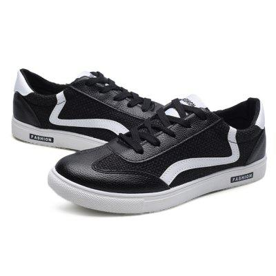 Male Soft Wearable Elastic Lace Up Flat Leisure ShoesCasual Shoes<br>Male Soft Wearable Elastic Lace Up Flat Leisure Shoes<br><br>Closure Type: Lace-Up<br>Contents: 1 x Pair of Shoes<br>Decoration: Stripe<br>Function: Slip Resistant<br>Lining Material: Cotton Fabric<br>Materials: Fabric, Canvas, Rubber<br>Occasion: Sports, Shopping, Riding, Tea Party, Outdoor Clothing, Casual, Party, Daily, Holiday, Office<br>Outsole Material: Rubber<br>Package Size ( L x W x H ): 31.00 x 21.00 x 11.00 cm / 12.2 x 8.27 x 4.33 inches<br>Package Weights: 0.87kg<br>Pattern Type: Stripe, Letter<br>Seasons: Autumn,Spring<br>Style: Modern, Leisure, Fashion, Comfortable, Casual<br>Toe Shape: Round Toe<br>Type: Casual Shoes<br>Upper Material: Canvas