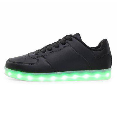 Male Casual LED Light Up Split Joint Leather ShoesCasual Shoes<br>Male Casual LED Light Up Split Joint Leather Shoes<br><br>Closure Type: Lace-Up<br>Contents: 1 x Pair of Shoes<br>Decoration: Split Joint<br>Function: Slip Resistant<br>Lining Material: Mesh<br>Materials: Rubber, Mesh, Leather<br>Occasion: Tea Party, Shopping, Party, Casual, Daily, Holiday, Outdoor Clothing<br>Outsole Material: Rubber<br>Package Size ( L x W x H ): 31.00 x 21.00 x 11.00 cm / 12.2 x 8.27 x 4.33 inches<br>Package Weights: 0.87kg<br>Pattern Type: Solid<br>Seasons: Autumn,Spring<br>Style: Modern, Leisure, Fashion, Comfortable, Casual<br>Toe Shape: Round Toe<br>Type: Casual Leather Shoes<br>Upper Material: Leather