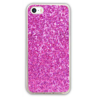 Buy ROSE MADDER ASLING TPU Glitter Back Cover Case for iPhone 5 / 5S / SE for $2.84 in GearBest store