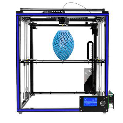 Tronxy X5S High-precision Assembly Metal Frame 3D Printer3D Printers, 3D Printer Kits<br>Tronxy X5S High-precision Assembly Metal Frame 3D Printer<br><br>Brand: Tronxy<br>File format: STL, G-code<br>Frame material: Aluminum<br>Host computer software: Cura,Repetier-Host<br>Language: Chinese,English<br>Layer thickness: 0.1-0.4mm<br>LCD Screen: Yes<br>Material diameter: 1.75mm<br>Memory card offline print: SD card<br>Model: X5S<br>Nozzle diameter: 0.4mm<br>Nozzle temperature: 170-275 Degree<br>Package size: 58.00 x 38.00 x 19.00 cm / 22.83 x 14.96 x 7.48 inches<br>Package weight: 13.0400 kg<br>Packing Contents: 1 x 3D Printer<br>Packing Type: Assembled packing<br>Platform temperature: Room temperature to 110 degree<br>Print speed: 20 - 150 mm/s<br>Product size: 65.80 x 63.10 x 63.90 cm / 25.91 x 24.84 x 25.16 inches<br>Product weight: 13.0000 kg<br>Supporting material: Wood, PVC, PLA, ABS, HIPS, PC<br>System support: MAC,  WIN7, XP<br>Type: DIY<br>Voltage: 110V/220V<br>XY-axis positioning accuracy: 0.012mm<br>Z-axis positioning accuracy: 0.004mm
