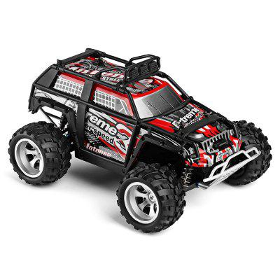 WLtoys 18409 1:18 4WD RC Monster Truck - RTRRC Cars<br>WLtoys 18409 1:18 4WD RC Monster Truck - RTR<br><br>Age: Above 14 years old<br>Battery Information: 6.4V 500mAh LiCo<br>Brand: WLtoys<br>Car Power: Built-in rechargeable battery<br>Charging Time: 120 Minutes<br>Control Distance: 30-80m<br>Detailed Control Distance: About 50m<br>Drive Type: 4 WD<br>Features: Radio Control<br>Functions: Forward/backward, Turn left/right<br>Material: ABS, Electronic Components, PA<br>Motor Type: Brushed Motor<br>Package Contents: 1 x RC Truck ( Battery Included ), 1 x Transmitter, 1 x USB Cable, 1 x English Manual<br>Package size (L x W x H): 43.00 x 25.50 x 21.50 cm / 16.93 x 10.04 x 8.46 inches<br>Package weight: 1.6600 kg<br>Product size (L x W x H): 28.00 x 19.60 x 14.00 cm / 11.02 x 7.72 x 5.51 inches<br>Product weight: 0.6500 kg<br>Proportion: 1:18<br>Racing Time: 7~8mins<br>Remote Control: 2.4GHz Wireless Remote Control<br>Speed: 25km/h<br>Transmitter Power: 4 x 1.5V AA (not included)<br>Type: Monster Truck