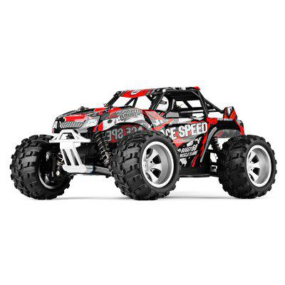 WLtoys 18404 1:18 4WD RC Monster Truck - RTRRC Cars<br>WLtoys 18404 1:18 4WD RC Monster Truck - RTR<br><br>Age: Above 14 years old<br>Battery Information: 6.4V 500mAh LiCo<br>Brand: WLtoys<br>Car Power: Built-in rechargeable battery<br>Charging Time: 120 Minutes<br>Control Distance: 30-80m<br>Detailed Control Distance: About 50m<br>Drive Type: 4 WD<br>Features: Radio Control<br>Functions: Forward/backward, Turn left/right<br>Material: ABS, Electronic Components, PA<br>Motor Type: Brushed Motor<br>Package Contents: 1 x RC Truck ( Battery Included ), 1 x Transmitter, 1 x USB Cable, 1 x English Manual<br>Package size (L x W x H): 43.00 x 25.50 x 21.50 cm / 16.93 x 10.04 x 8.46 inches<br>Package weight: 1.6600 kg<br>Product size (L x W x H): 24.80 x 19.60 x 12.10 cm / 9.76 x 7.72 x 4.76 inches<br>Product weight: 0.6250 kg<br>Proportion: 1:18<br>Racing Time: 7~8mins<br>Remote Control: 2.4GHz Wireless Remote Control<br>Speed: 25km/h<br>Transmitter Power: 4 x 1.5V AA (not included)<br>Type: Monster Truck