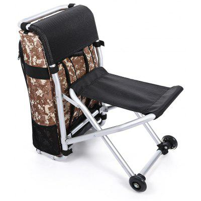 CTSmart Multifunctional 2 in 1 Trolley Backpack Folding Chair