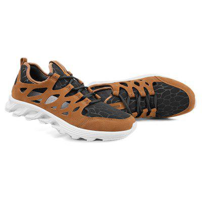 Male Athletic Anti Slip Hollow Light Running ShoesMen's Sneakers<br>Male Athletic Anti Slip Hollow Light Running Shoes<br><br>Closure Type: Lace-Up<br>Contents: 1 x Pair of Shoes<br>Decoration: Hollow Out,Split Joint<br>Function: Slip Resistant<br>Lining Material: Mesh<br>Materials: Leather, Mesh, Rubber<br>Occasion: Sports, Shopping, Running, Outdoor Clothing, Holiday, Daily, Casual<br>Outsole Material: Rubber<br>Package Size ( L x W x H ): 25.00 x 18.00 x 11.00 cm / 9.84 x 7.09 x 4.33 inches<br>Package Weights: 0.75kg<br>Seasons: Autumn,Spring,Summer<br>Style: Modern, Leisure, Fashion, Comfortable, Casual<br>Toe Shape: Round Toe<br>Type: Sports Shoes<br>Upper Material: Leather