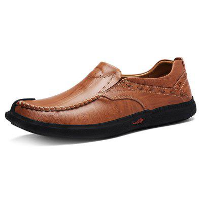 Male Casual Soft Flat Slip On Leather Boat ShoesMen's Oxford<br>Male Casual Soft Flat Slip On Leather Boat Shoes<br><br>Closure Type: Slip-On<br>Contents: 1 x Pair of Shoes<br>Function: Slip Resistant<br>Materials: Rubber, Leather<br>Occasion: Tea Party, Shopping, Office, Holiday, Daily, Casual, Party<br>Outsole Material: Rubber<br>Package Size ( L x W x H ): 30.00 x 18.00 x 12.00 cm / 11.81 x 7.09 x 4.72 inches<br>Package Weights: 0.94kg<br>Pattern Type: Solid<br>Seasons: Autumn,Spring<br>Style: Modern, Leisure, Fashion, Comfortable, Casual, Business<br>Toe Shape: Round Toe<br>Type: Casual Leather Shoes<br>Upper Material: Leather