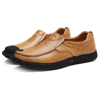 Male Casual Soft Flat Slip On Oxford Boat Shoes
