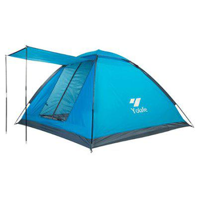 Yolafe Outdoor Three Persons Single Layer TentTent<br>Yolafe Outdoor Three Persons Single Layer Tent<br><br>Brand: Yolafe<br>External Tent Material: Polyester Fabric, PU<br>Features: Waterproof<br>Fits for: 3-4 People<br>Package Content: 1 x Tent, 1 x Box, 1 x Bag, 4 x Pole, 6 x Peg<br>Package size: 59.00 x 13.00 x 13.00 cm / 23.23 x 5.12 x 5.12 inches<br>Package weight: 2.3200 kg<br>Product weight: 1.9500 kg<br>Structure: Monolayer<br>Tent Bottom Material: Oxford Fabric, PU<br>Tent Pole Diameter: 7.9mm<br>Tent Pole Material: Glass Fiber<br>Type: Tent