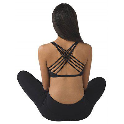 Female Strappy Sports Bra for YogaYoga<br>Female Strappy Sports Bra for Yoga<br><br>Gender: Female<br>Package Content: 1 x Sports Bra<br>Package size: 35.00 x 25.00 x 2.00 cm / 13.78 x 9.84 x 0.79 inches<br>Package weight: 0.1000 kg<br>Product weight: 0.0750 kg