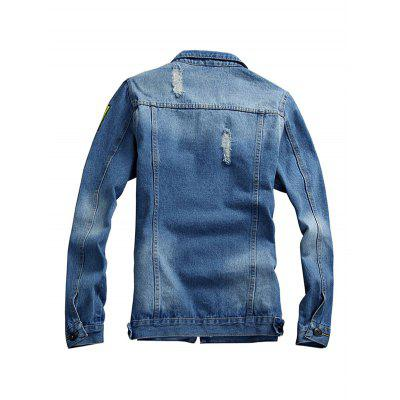 Popular Long Sleeves Jeans Jacket for MenMens Jackets &amp; Coats<br>Popular Long Sleeves Jeans Jacket for Men<br><br>Closure Type: Single Breasted<br>Clothes Type: Jackets<br>Embellishment: Others<br>Materials: Cotton, Polyester<br>Package Content: 1 x Jacket<br>Package Dimension: 20.00 x 20.00 x 2.00 cm / 7.87 x 7.87 x 0.79 inches<br>Package weight: 0.9400 kg<br>Pattern Type: Others<br>Product weight: 0.9000 kg<br>Seasons: Autumn,Spring<br>Shirt Length: Regular<br>Sleeve Length: Long Sleeves<br>Style: Fashion<br>Thickness: Medium thickness